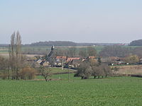 Fontenouilles, Yonne (France) -vue de l'ouest.JPG