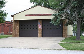 Foosland, Illinois - Foosland, Illinois Fire Station.