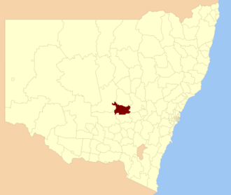 Forbes Shire - Location in New South Wales