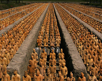 Forbidden Gardens - Terracotta army reproduction in one-third scale.
