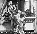 Foster Bible Pictures 0085-1 The Two Israelites Letting Themselves Down from Rahab's House.jpg