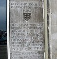 Foundation Stone of Crown House, Ferensway, Hull - geograph.org.uk - 617353.jpg
