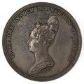 Framsida av medalj med bild av Josefina i profil samt text, 1830 - Skoklosters slott - 99610.tif