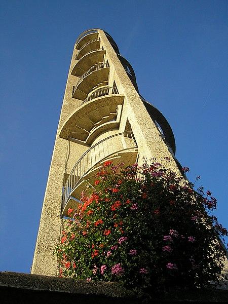 Saint-Lô (Normandie, France). Le beffroi.