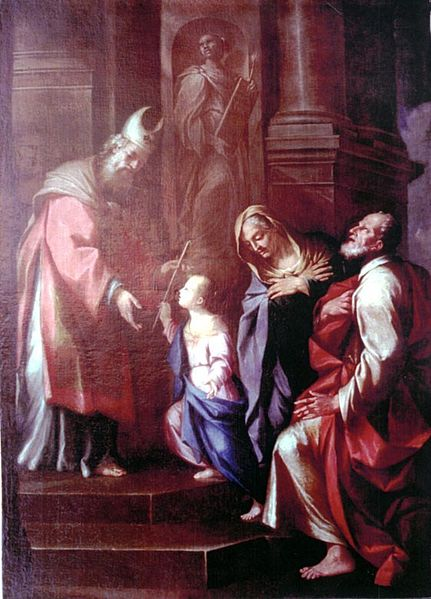 Archivo:Francesco Stringa Presentación de la Virgen en el Templo Galleria Estense Modena.jpg