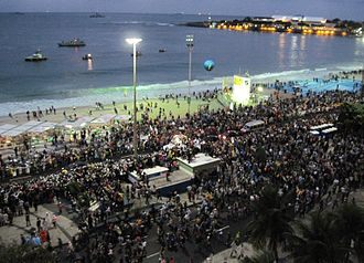World Youth Day - Pope Francis arrives at Copacabana, 26 July 2013