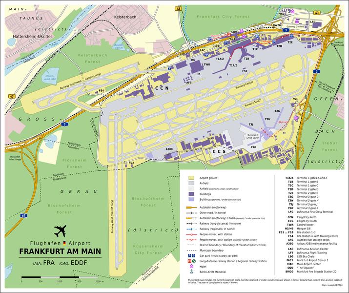 Frankfurt Am Main Airport Map Frankfurt Airport   FFM Frankfurt Am Main