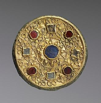 "Disc fibula - ""Disk fibula"", ca. 7th century."