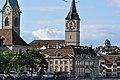 Fraumünster - Zunfthaus zur Meisen - St. Peter - Quaibrücke 2010-09-10 17-27-04.JPG