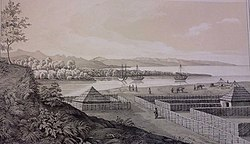 The Shekvetili Fort in the early 19th century.