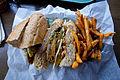 Fried Green Tomato Sandwich, Hungry Bear Restaurant 2011.jpg
