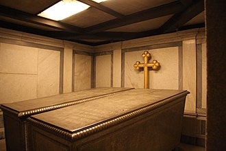 Frederick William IV of Prussia - The crypt containing the Sarcophagi of Frederick William IV and his wife Elisabeth Ludovika of Bavaria in the Church of Peace, Sanssouci Park in Potsdam