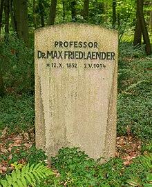 Grab von Max Friedländer auf dem Südwestfriedhof Stahnsdorf (Quelle: Wikimedia)