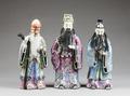 Fu, Lu och Shou xing från kinesisk mytologi, 1900-tal - Hallwylska museet - 100914.tif