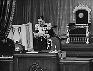 Fumimaro Konoe President of the House of Peers
