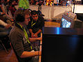 Fury playing a game on ESWC 2005 Paris 2.jpg