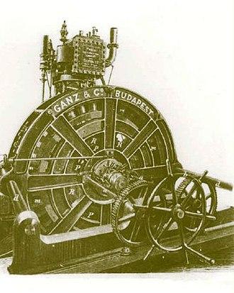 András Mechwart - Steam powered lighting machine (1883)