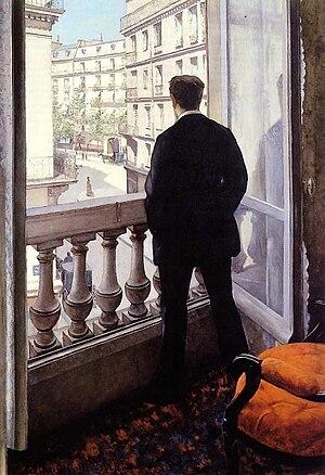 Young Man at His Window - Image: G. Caillebotte Jeune homme à la fenêtre