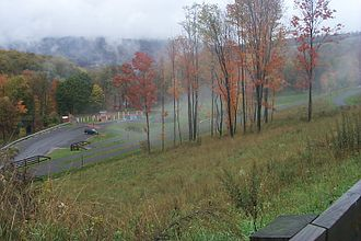 Great Allegheny Passage - Frostburg trailhead, from top of access trail