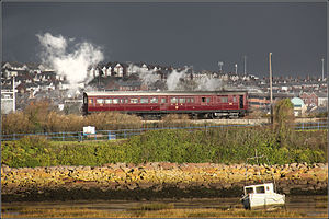 Barry Tourist Railway - GWR steam rail motor at Barry Tourist Railway