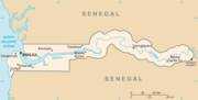 A map of Gambia Image: CIA World Factbook.