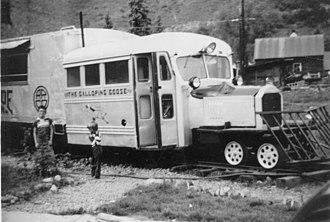 Rio Grande Southern Railroad - Galloping Goose, Telluride, CO, 1952
