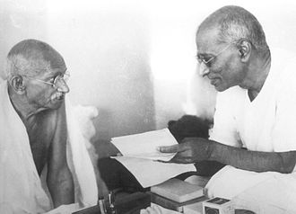 C. Rajagopalachari - CR with Mahatma Gandhi during the Gandhi-Jinnah talks, 1944
