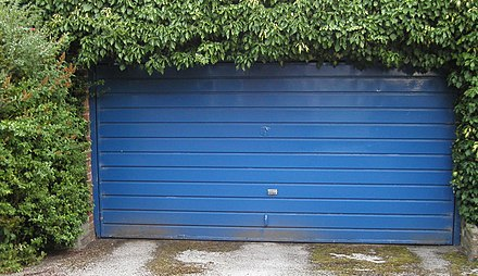 Up-and-over garage door Garage door.JPG
