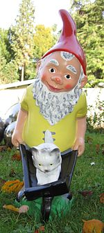 Garden Gnomes and other lawn ornaments are often considered kitsch.