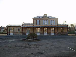 Houlgate - Houlgate train station in winter 2008