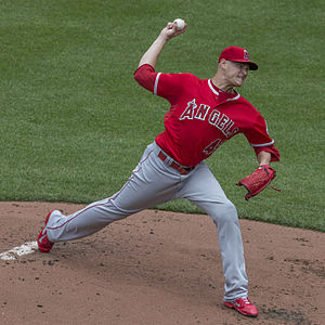 Garrett Richards - Richards with the Los Angeles Angels
