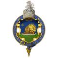 Garter encircled arms of Naser al-Din, Shah of Persia.png