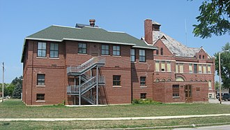 National Register of Historic Places listings in Grant County, Indiana - Image: Gas City High School