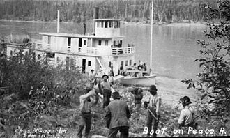 Peace River - The Grenfell was one of the vessels that shipped cargo on the Peace River.