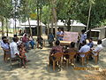 Gathering in a meeting of villagers in an Bangladeshi village 2015 22.jpg
