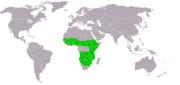 Gaukler Terathopius ecaudatus world.png