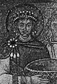 Gebrüder Alinari - Justinianus, Teil des Mosaiks in San Vitale in Ravenna (Zeno Fotografie).jpg