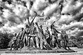 Gedenkstätte Buchenwald - Bronzefiguren von Fritz Cremer.jpg