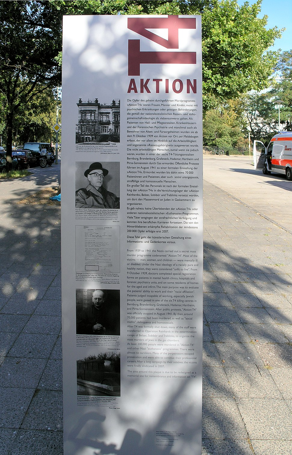 Gedenkstele Tiergartenstr 4 (Tierg) Aktion T4