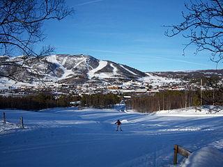 Geilo urban area in Hol, Buskerud, Norway