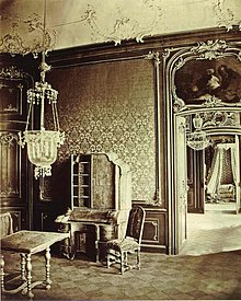 1870 photograph of Bruchsal Palace's interior