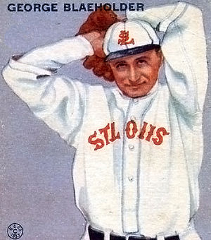 George Blaeholder - Blaeholder's 1933 baseball card from the Goudey Gum Company