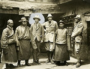 George Mallory - Some members of the 1924 British Mount Everest expedition; Mallory is highlighted