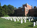 Relocated cemetery at Georgetown University