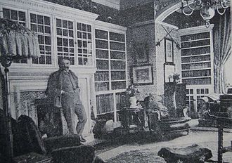 Grim's Dyke - Gilbert in his library in 1891