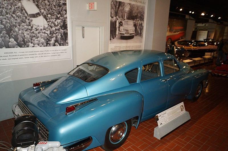 File:Gilmore Car Museum 1948 Tucker 48 Sedan (34676995195).jpg