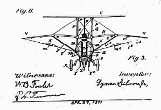 Lyman Gilmore - Drawing of the smaller first plane