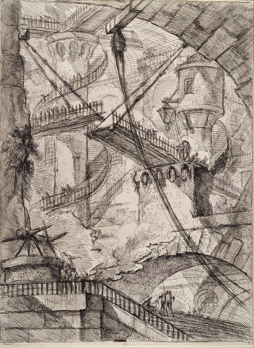 Giovanni Battista Piranesi - The Drawbridge - Google Art Project