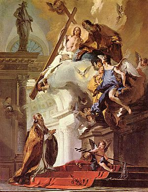 Pope Clement I - Saint Clement, by Tiepolo