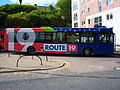 Go North East bus 4971 Scania L94 Wrightbus Solar NK53 UNX Route 19 livery in North Shields 9 May 2009 pic 2.jpg